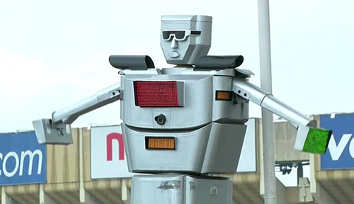 Robot Cop for Traffic Control