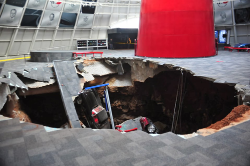 2014 Sinkhole at Corvette Museum