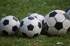 Soccer balls -- Photo by Peter Dutton