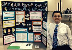 Student tie dye eggs chemistry science project / Jeffery