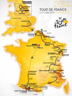2014 Tour de france map