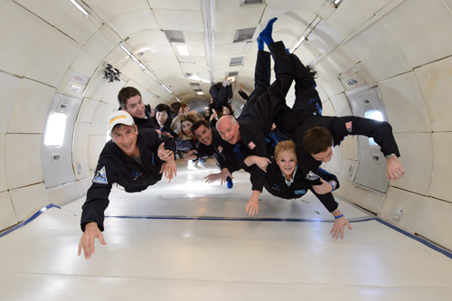 Zero-G training for space flight