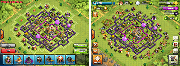 Clash of Clans village planning and design
