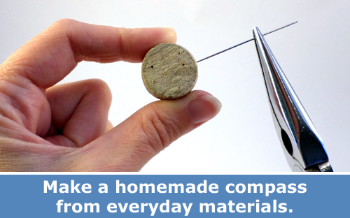 Make a Homemade Compass Physics Activity and DIY Project  / Hand-on STEM experiment