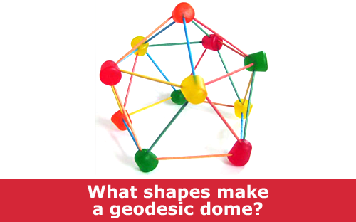Make and explore the geodesic dome with one made from gumdrops and toothpicks science experiment  / Hand-on STEM experiment