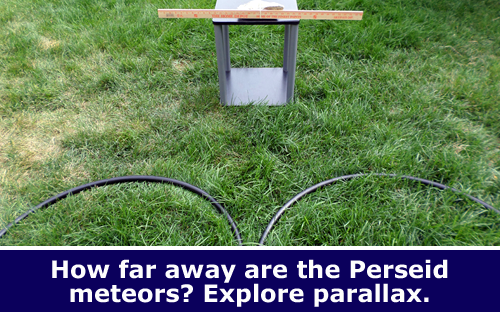 Stargazing parallax science activity / Hand-on STEM experiment