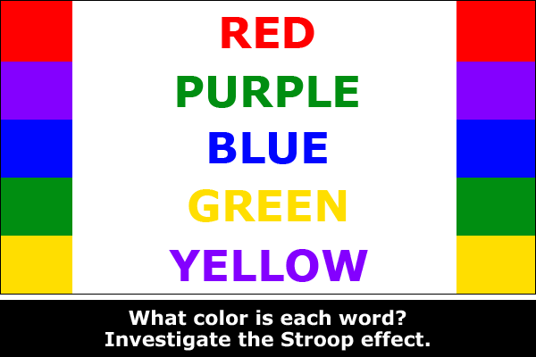 Explore the science of the Stroop effect / Hand-on STEM experiment