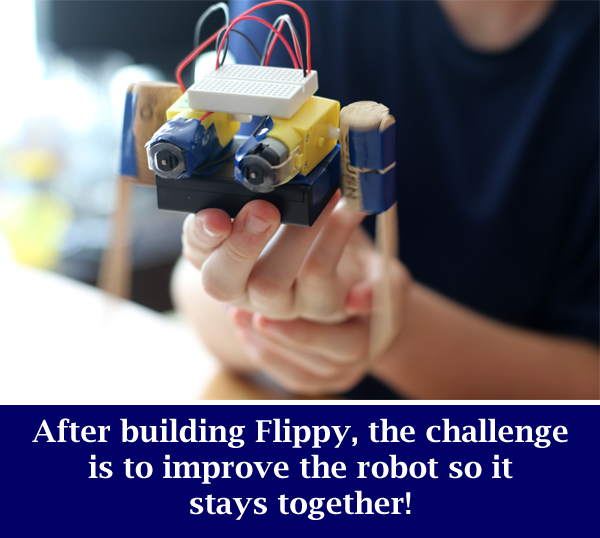 Completed Flippy being held in the air / Flippy the Robot Dances (and Falls Apart)