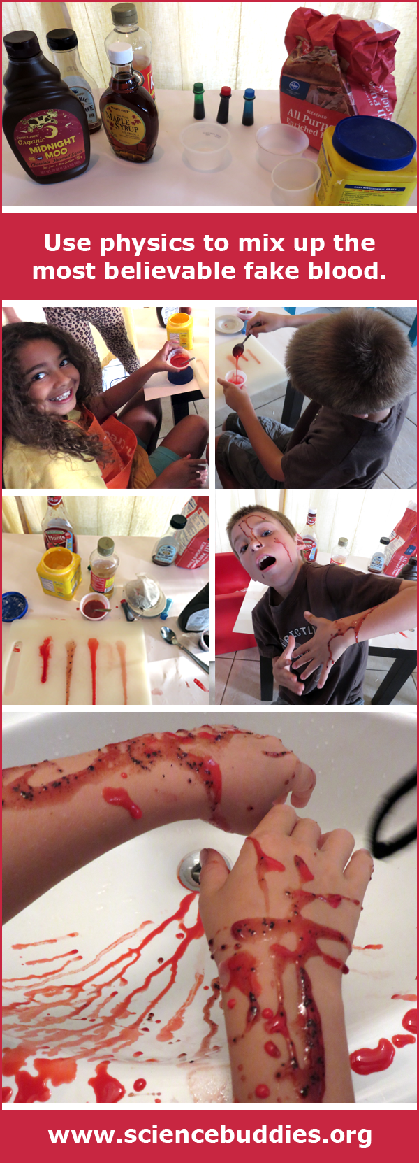 The Physics of Fake Blood