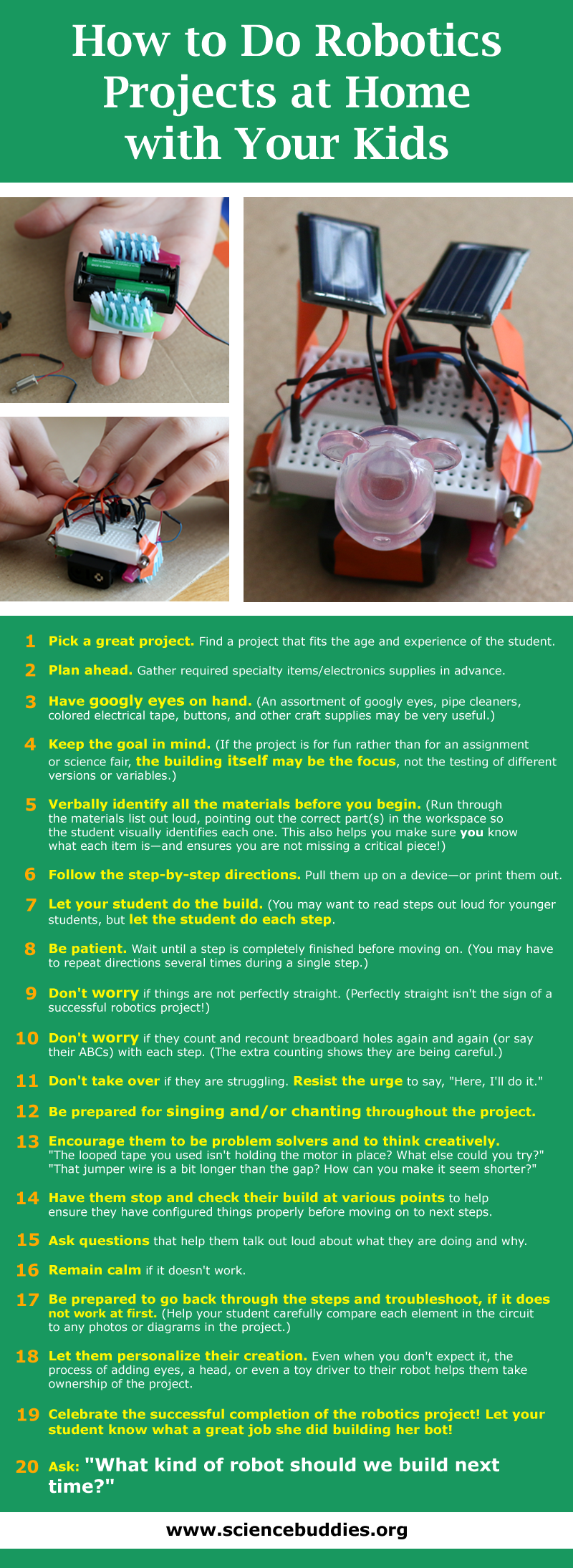 how to do robotics at home with your kids