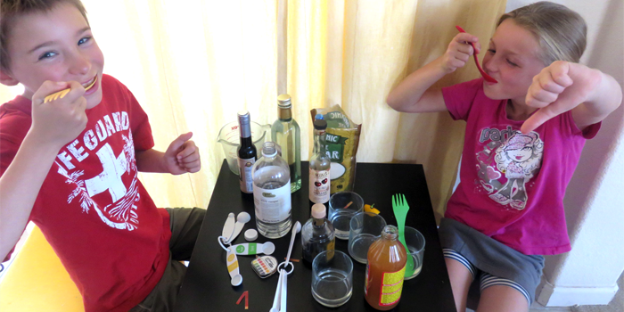 Sweet and Sour Tasty Kitchen Science / Family STEM experiment involves taste test fun
