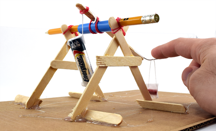 Mini Trebuchet Science on magnet science project