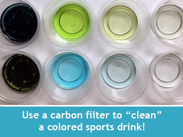 Carbon Filters and Adsorbing Science / Weekly family science STEM activity