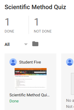 Students who are done