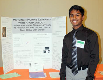 Ram Goli with 11th grade science project