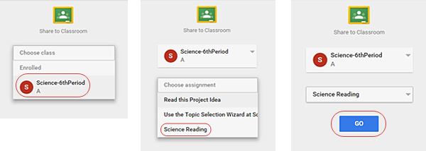 Add the article to your Google Classroom for the assignment