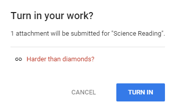 Make Science Reading Assignments with Science Buddies / Turning in the assignment with Google Classroom