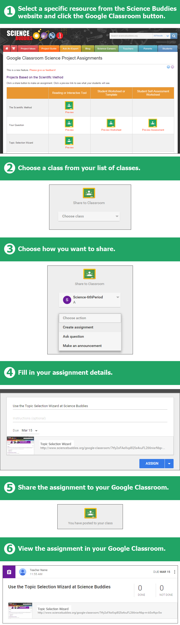 Science Buddies Offers Google Classroom Integration