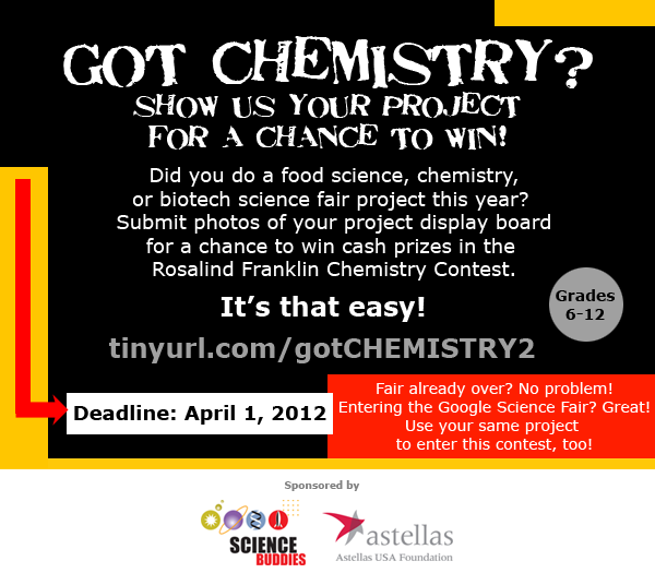 Rosalind Franklin Chemistry Contest - Enter Today!