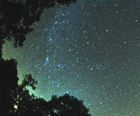 Perseids meteor from 2007