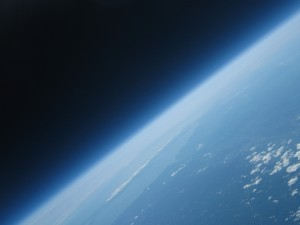 Earth from 93000 feet. Long Island in the background.