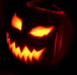 A Jack o' Lantern made for the Holywell Manor Halloween