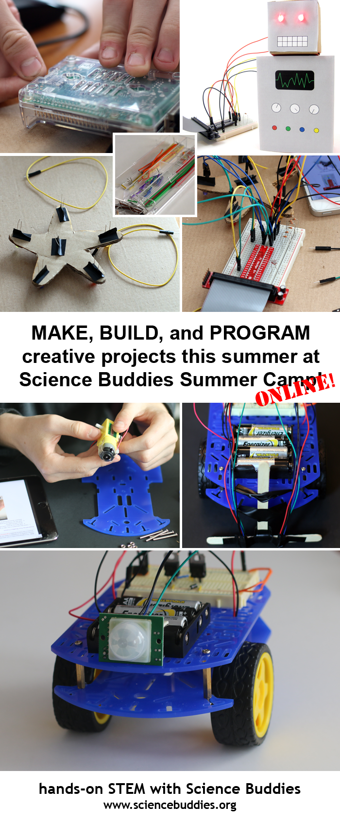 Science Buddies Online Summer STEM Camp / New Online Summer STEM Camp