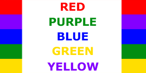 Stroop effect family science activity