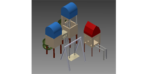 Inventor playground 3D modeling project with Autodesk Inventor software