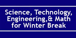 Fun Science Picks for Winter Break / STEM at Home