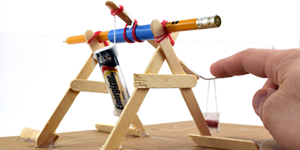 Mini Trebuchet Science / Family STEM Activity
