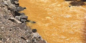 Heavy Metals Turn Waterways Orange