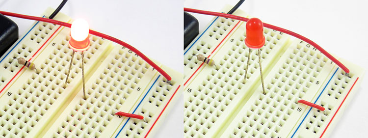 breadboard wrong row close